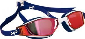 Michael Phelps Aqua Sphere plavecké brýle XCEED RED titanově zrcadlový zorník