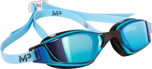 Michael Phelps Aqua Sphere plavecké brýle XCEED BLUE titanově zrcadlový zorník 1